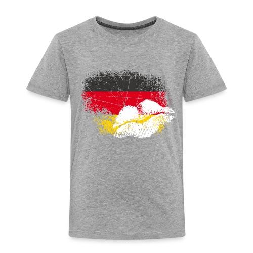Fahne Deutschland Kussmund/Lippen - Fanshirt - Kinder Premium T-Shirt
