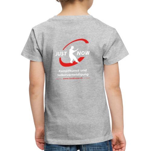 JustKnow - Kampfkunst und Selbstverteidigung - Kinder Premium T-Shirt