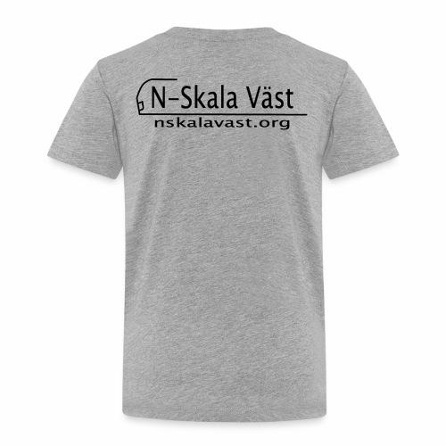 Svart logga - Premium-T-shirt barn