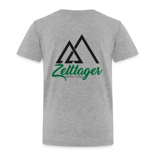 Zeltlager Logo Hinten Schwarz-Grün Edition - Kinder Premium T-Shirt
