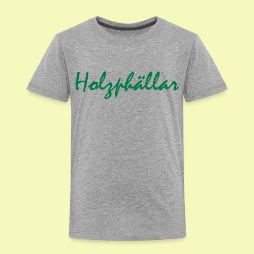 Schriftzug Grün - Kinder Premium T-Shirt