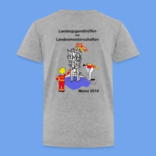 LM Logo vierfarbig mit Schrift schwarz - Kinder Premium T-Shirt