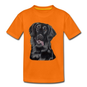 flatcoated retriever p - Børne premium T-shirt
