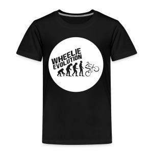 Wheelie Evolution (WHITE) - Kinder Premium T-Shirt