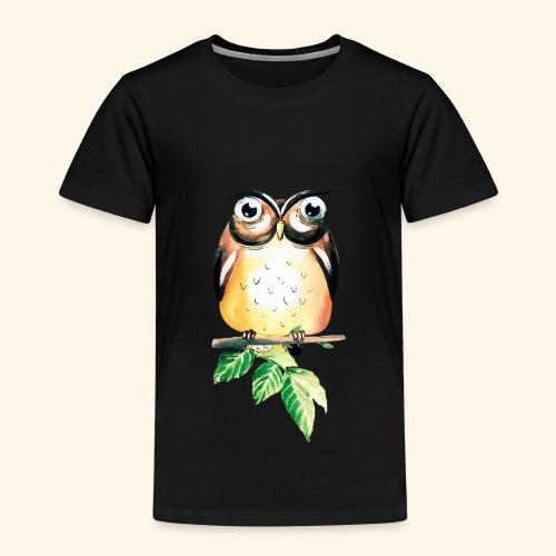 Die aufmerksame Eule - Kinder Premium T-Shirt