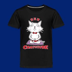 En 2018, optez pour la Zen Chattitude ! - Kids' Premium T-Shirt