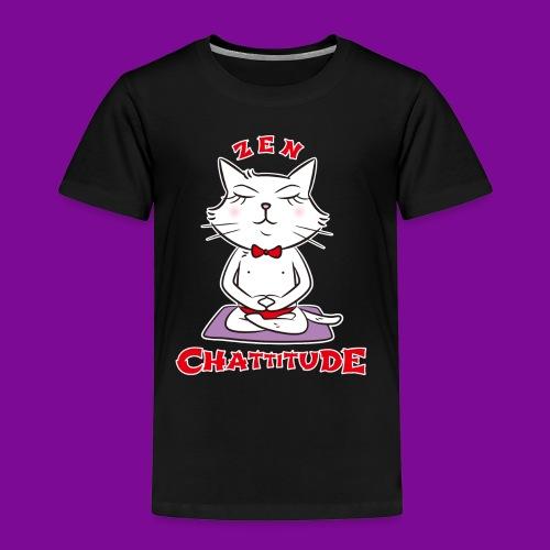 En 2018, optez pour la Zen Chattitude ! - T-shirt Premium Enfant