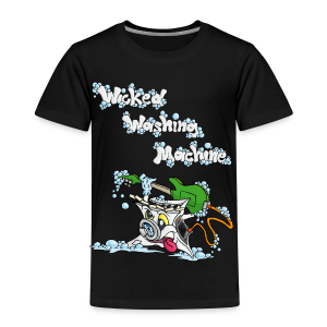 Wicked Washing Machine Cartoon and Logo - Kinderen Premium T-shirt