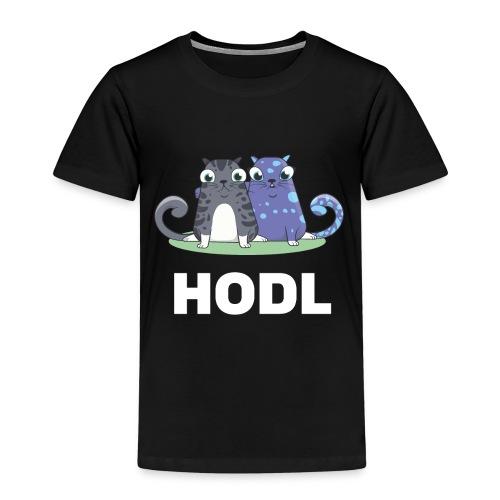 Kitty HODL white - Kids' Premium T-Shirt