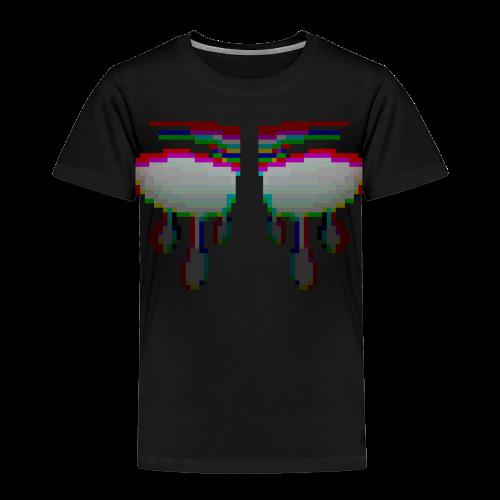 Glitchy TV Eyes - Kids' Premium T-Shirt