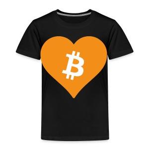 Bitcoin Heart - Kinderen Premium T-shirt