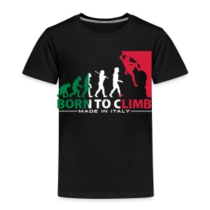 ROCK CLIMBING EVOLUTION BORN TO CLIMB ITALY - Kids' Premium T-Shirt