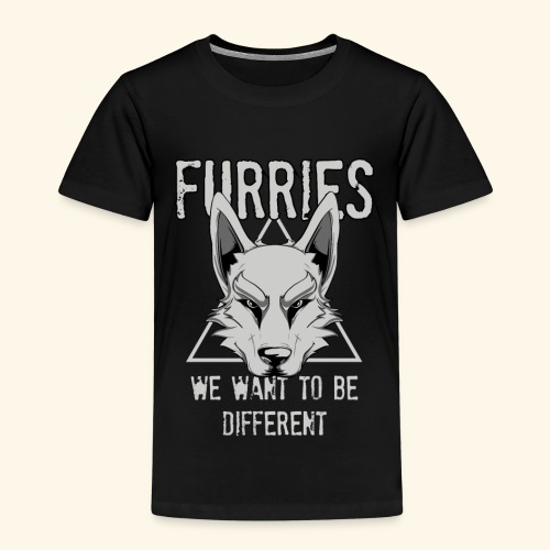 Furries We Want To Be Different Furry Cosplay - Kinder Premium T-Shirt