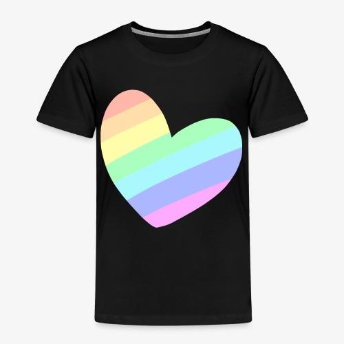 Pastal Rainbow Heart - Kinderen Premium T-shirt