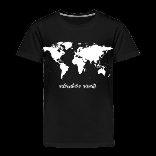 adventure awaits - Weltkarte - Kinder Premium T-Shirt