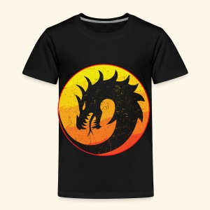 Flaming Dragon Retro - Kids' Premium T-Shirt