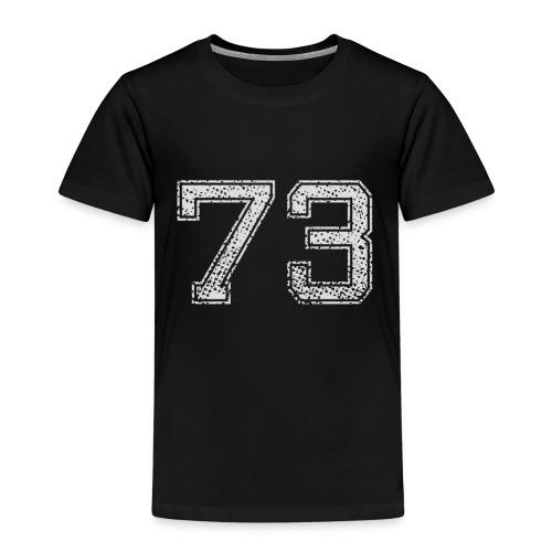 Nummer 73 Zahl Dreiundsiebzig Sieben Drei Geschenk - Kinder Premium T-Shirt