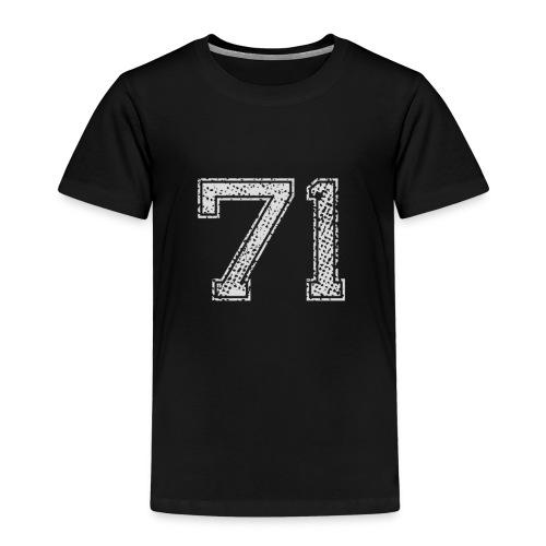 Nummer 71 Zahl Einundsiebzig Sieben Eins Geschenk - Kinder Premium T-Shirt