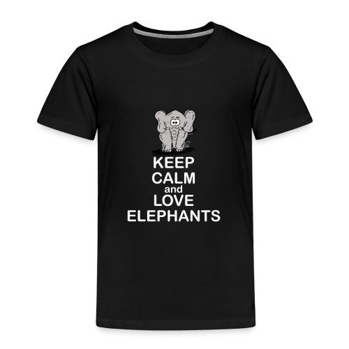 Keep Calm and Love Elephants - Kinder Premium T-Shirt
