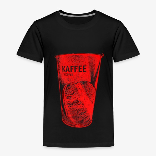 Café to Go Becher in rot - Kinder Premium T-Shirt