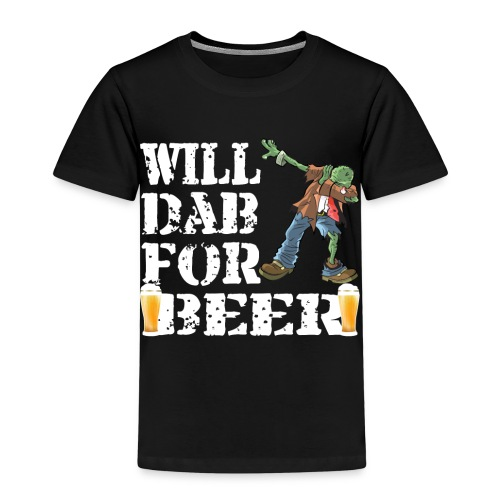 Cool Halloween Zombie Will Dab For Beer. Beer Lover Gift - Kids' Premium T-Shirt