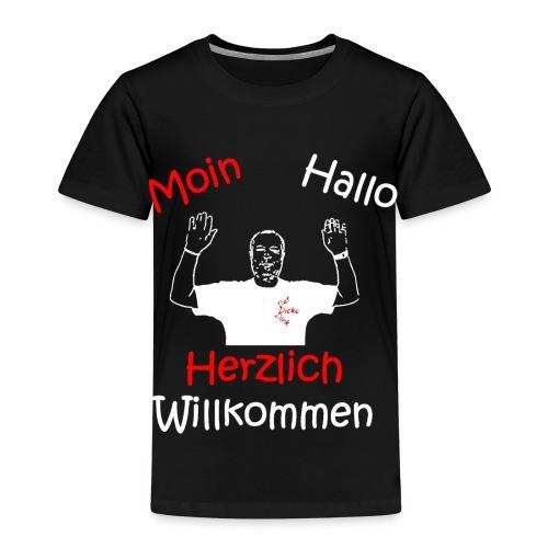 Moin Hallo Herzlich Willkommen - DerDickeDirk - Kinder Premium T-Shirt