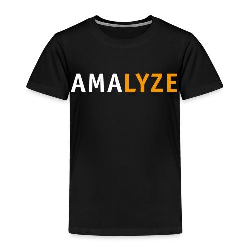 AMALYZE LOGO - Weiß / Orange - Kinder Premium T-Shirt