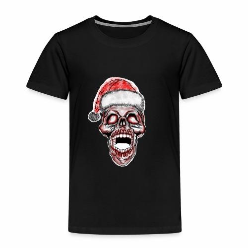 Totenkopf- Weinachtsmütze - Kinder Premium T-Shirt