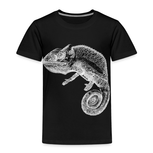 gezeichnetes AnninArt Chamäleon - Kinder Premium T-Shirt