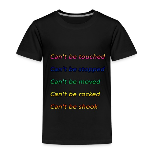 Cant be touched Roy Jones - Kinder Premium T-Shirt