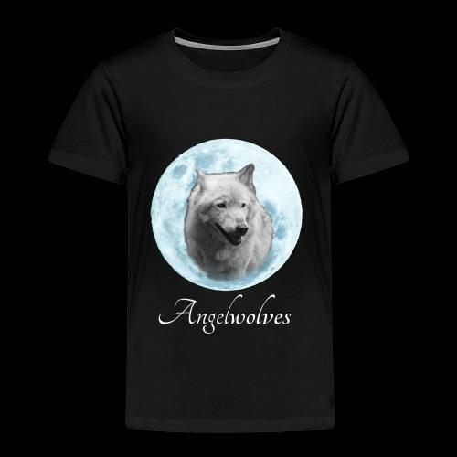 Weisser Wolf Angelwolves - Kinder Premium T-Shirt