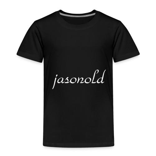 jasonold Schreibschrift Weiß - Kinder Premium T-Shirt