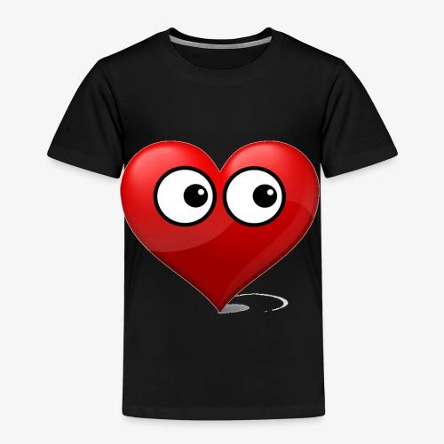 cœur avec yeux - T-shirt Premium Enfant