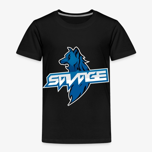 Blue Logo Savage Wolf - Kids' Premium T-Shirt