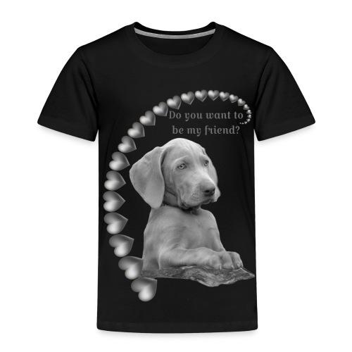 Möchtest du mein Freund sein silber - Kinder Premium T-Shirt