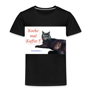 Gourmetkater Kaffee - Kinder Premium T-Shirt