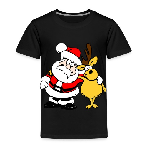 Santa and Reindeer - Kids' Premium T-Shirt