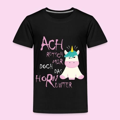 Genervtes Einhorn - Kinder Premium T-Shirt