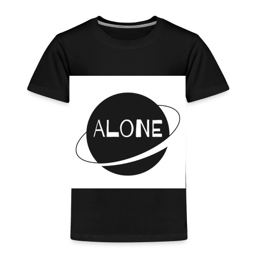 Alone planet white background - Kids' Premium T-Shirt