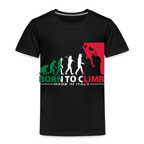 ROCK CLIMBING EVOLUTION BORN TO CLIMB ITALY - Kids' Premium T-Shirt
