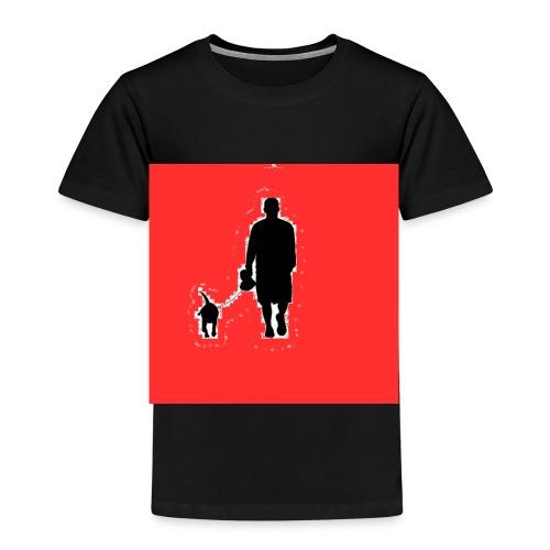 Silhouette Man Walking Dog - Maglietta Premium per bambini