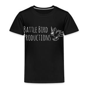 Battle Bird Logo (white) - Kids' Premium T-Shirt