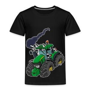 GREEN TRACTOR white border - Kinderen Premium T-shirt