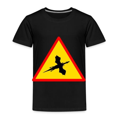 Drachenwarnschild - Kinder Premium T-Shirt