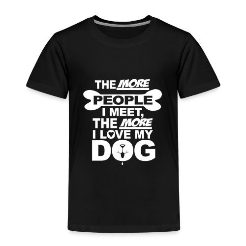 the more people love dog - T-shirt Premium Enfant