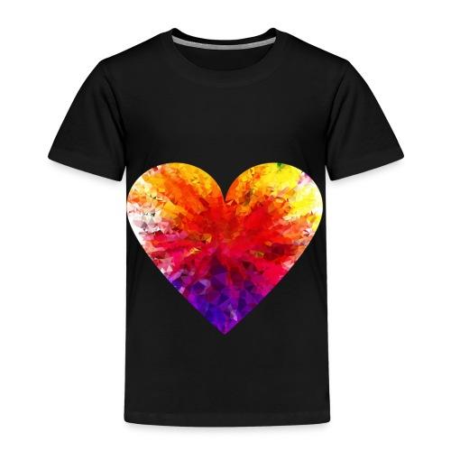 Valentines Day Tee Shirt - Coloured Rainbow Heart - Kids' Premium T-Shirt