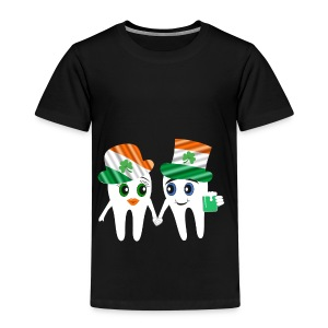 Funny Dentist St Patrick's Tooth Couple Design - Kids' Premium T-Shirt