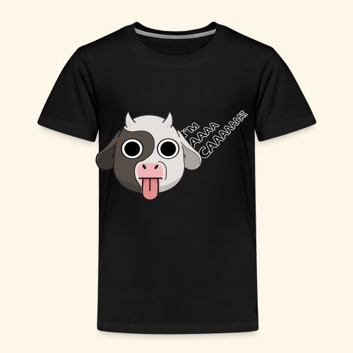 Kuh denkt, er wäre eine Katze - Kinder Premium T-Shirt