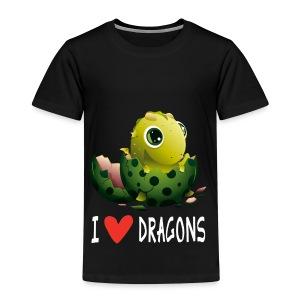 Ich liebe Drachen Tshirt - Børne premium T-shirt