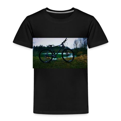 Fahrad am Teich - Kinder Premium T-Shirt